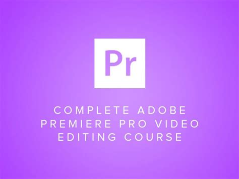Videography Classes  Adobe Premiere Pro Video Editing