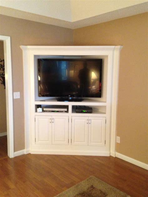 built  corner tv cabinet counter refinished