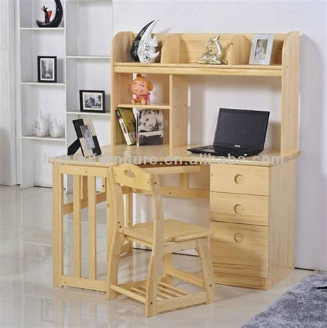 kids desk with bookcase simple solid wood furniture children multi function