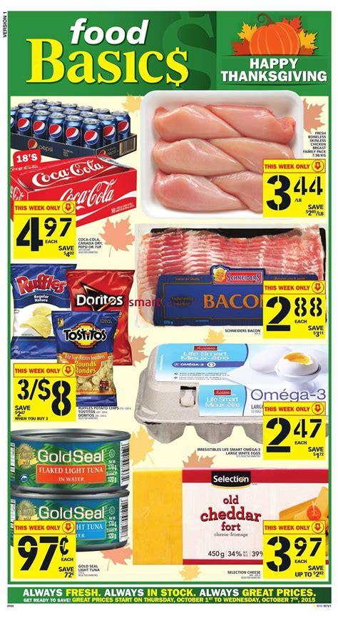 basics of cuisine food basics canada flyers thursday october 1 to