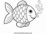 Coloring Fish Rainbow Preschool Sheet Coat Hooks sketch template