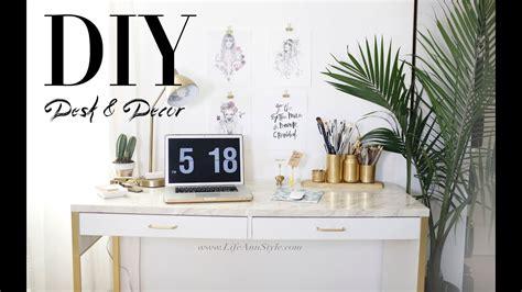 easy diy desk decor organization ikea hacks ann le