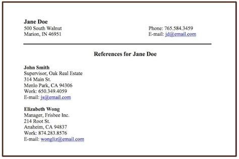 Putting Personal References On A Resume by Include References On A Resume Resume