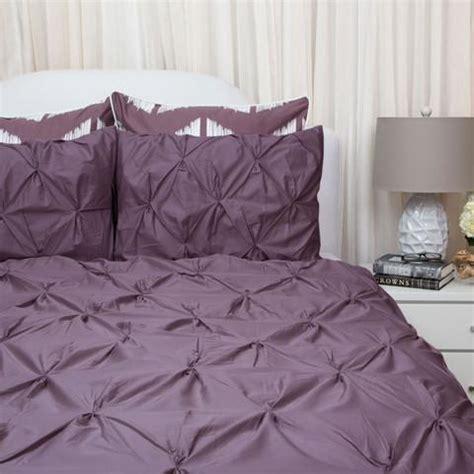 plum purple duvet cover set  valencia purple pintuck