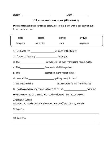 free printable noun worksheets for 7th grade noun gems