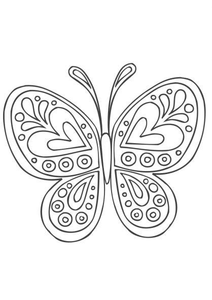 Coloriage Mandala Papillon  Coloriage Mandalas