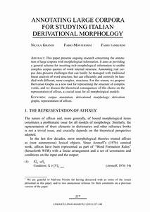 Annotating Large Corpora For Studying Italian Derivatonal