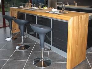 cuisine plan de travail bois massif sur mesure epaisflip With assemblage plan de travail cuisine