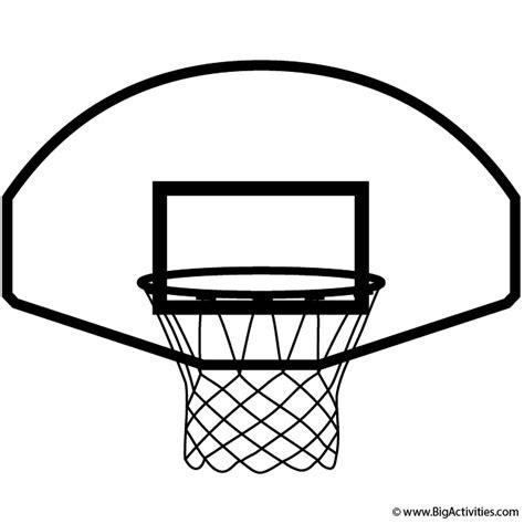 color hoop basketball hoop coloring page sports