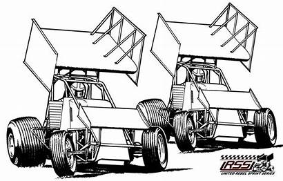 Sprint Clip Clipart Cars Wingless Pages Coloring