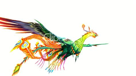 Flying Phoenix Bird Design Art Wing Abstract Nature Animal
