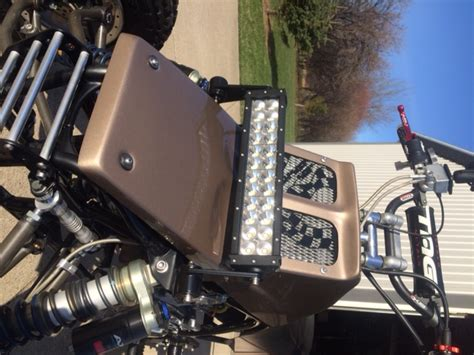 banshee led light bar 13 5 quot with custom mounts jds customs