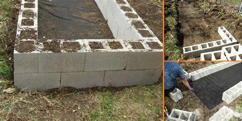 diy raised garden beds with cinder blocks home design