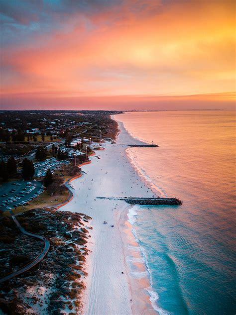 From Miles Away City Beach Sunset Perth Western Australia