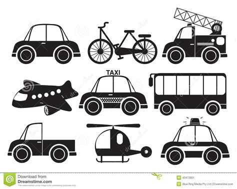 Different Type Of Vehicles Stock Vector. Image Of Graphic