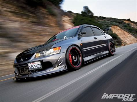 mitsubishi evolution 2006 mitsubishi lancer evolution ix import tuner magazine