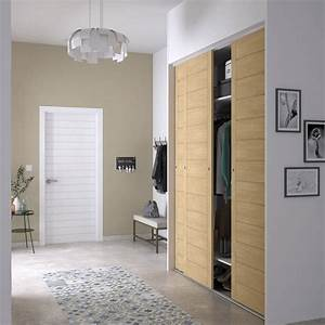 porte de placard coulissante spaceo l66 x h250 cm With pose de porte de placard