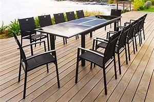 Table De Jardin 8 Places : table de jardin hesp ride extensible azua 8 12 places jardideco ~ Teatrodelosmanantiales.com Idées de Décoration