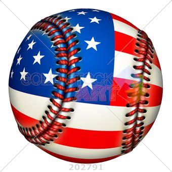 Stock Photo of Patriotic baseball ball with American flag ...