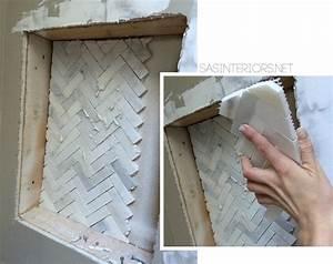 Bathroom Makeover: Tiled Niche {Day 19 + 20} - Jenna Burger