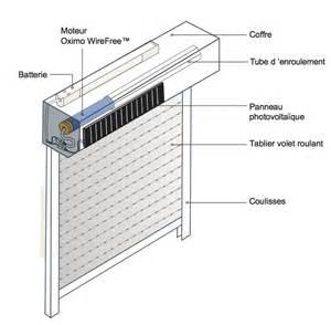 Le Sur Batterie Pour Garage by Volet Roulant Solaire Somfy Store Volet Com