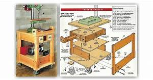 Mobile Drill Press Stand Plans • WoodArchivist