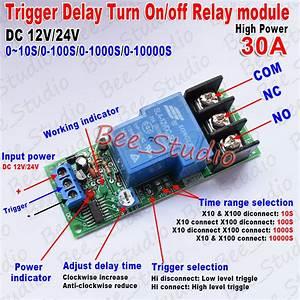Dc12v 24v High Power 30a Trigger Delay Timer Switch Turn
