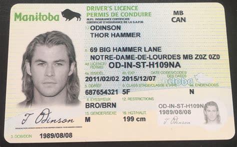 Manitoba Driver's License