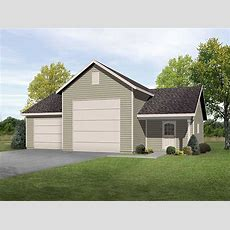 Rv Garage With Shop  22099sl  Architectural Designs