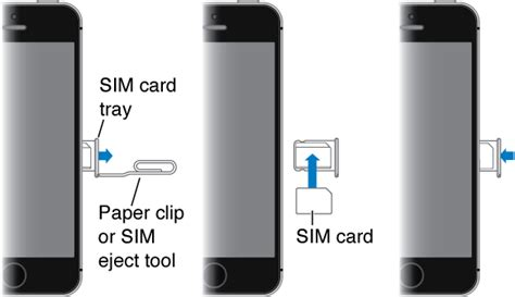 how to insert sim card in iphone 5 89 iphone sim card direction image titled put a sim