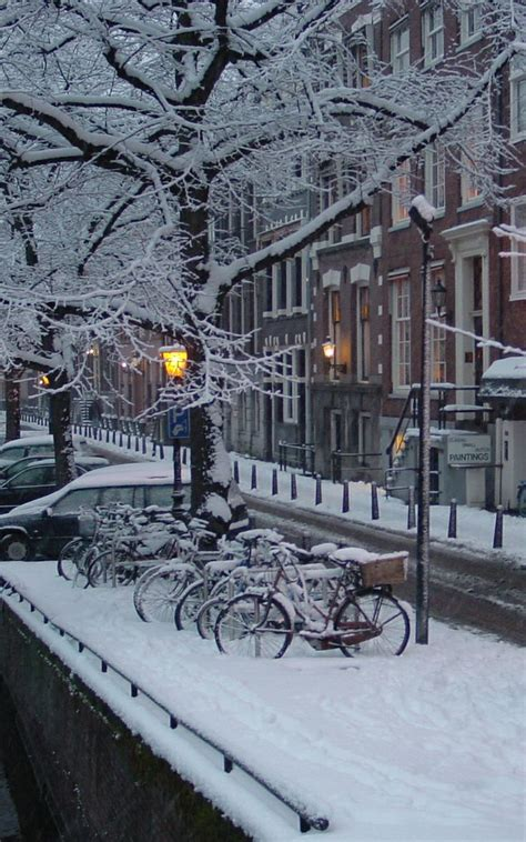 Winter In Amsterdam The Netherlands Let It Snow