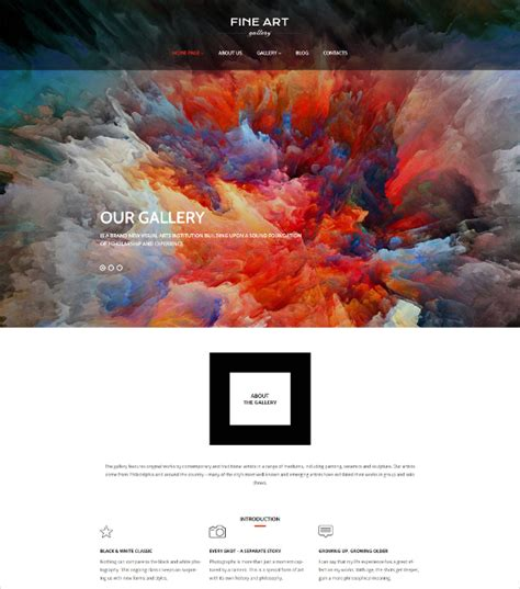 Themes For Artists 30 Portfolio Themes Templates Free