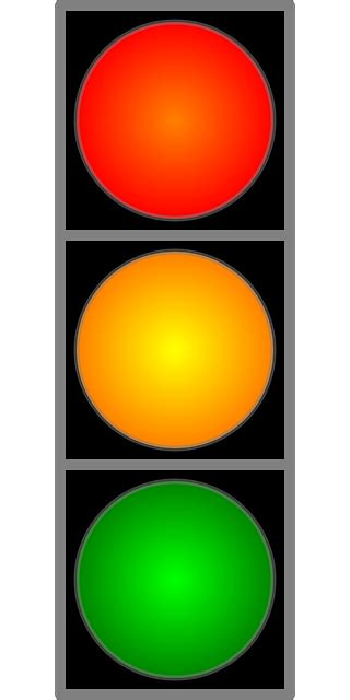 traffic light red yellow  vector graphic  pixabay