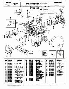 Poulan Pro Pp4218 Chainsaw Parts List  2006