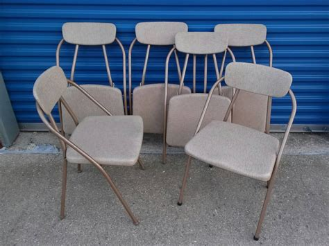 cosco folding chairs vintage retro set of 6 hamilton cosco mid century folding chairs