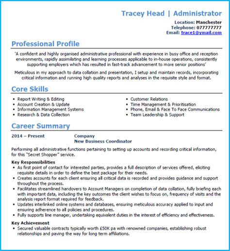 Typical Cv Template by Curriculum Vitae Outlay