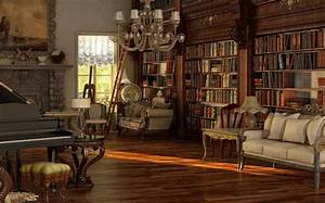 victorian library design | ... Library Victorian Room And ...