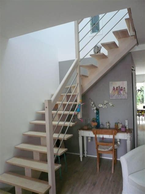 escalier en bois et inox avec limon central escaliers stella