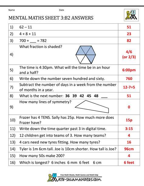 mental maths year  worksheets