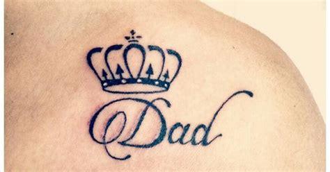 dad tattoo  crown mom  dad tattoo pinterest