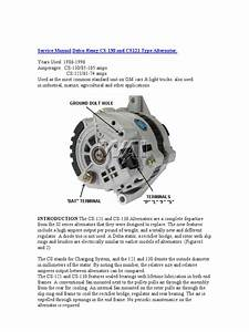 Delco Remy Cs Alternator Wiring Diagram