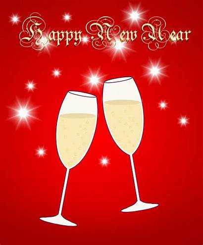 Clipart Years Happy Clip Glasses Champagne
