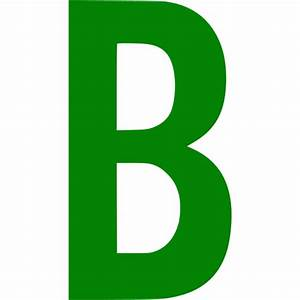 Green letter b icon - Free green letter icons