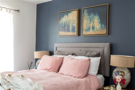 Navy And Pink Bedroom by Boho Chic Navy And Pink Bedroom A Vintage Splendor At Home