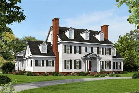 colonial style house plan  beds  baths  sqft plan   houseplanscom