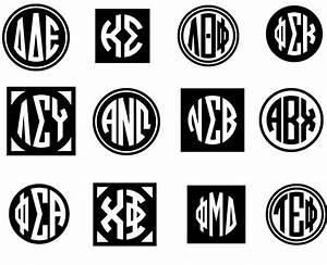 circle greek monograms font family by harold39s fonts With greek letter monogram