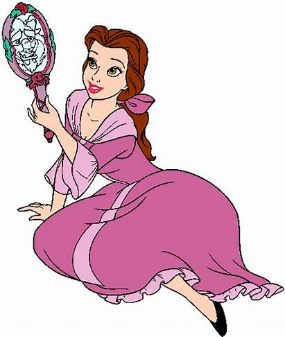 Beast Disney Beauty Mirror Belle Princess Clipart