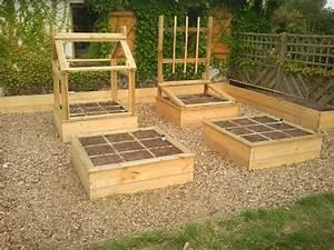 Creation Potager Surélevé : charmant jardin sureleve creation 2 carr233 de potager ~ Premium-room.com Idées de Décoration