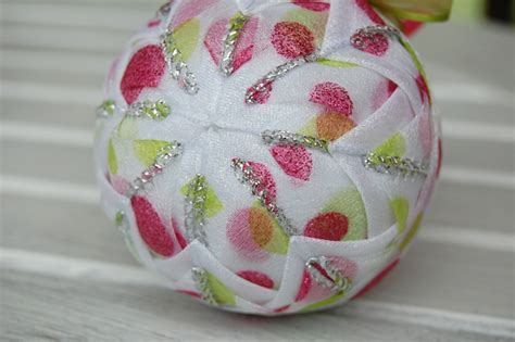pink  lime green ornament polka dot christmas ornament