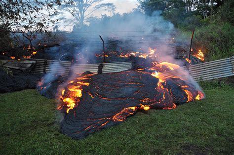 lava flow enters pahoa hawaii news and island information
